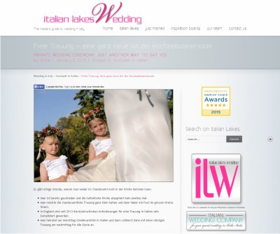 "Creative Wedding Interview on ""italianlakeswedding.com"""