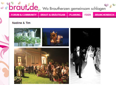 Creative Wedding wedding couple is couple of the month on braut.de