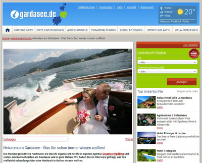 "Creative Wedding Interview on ""gardasee.de"""